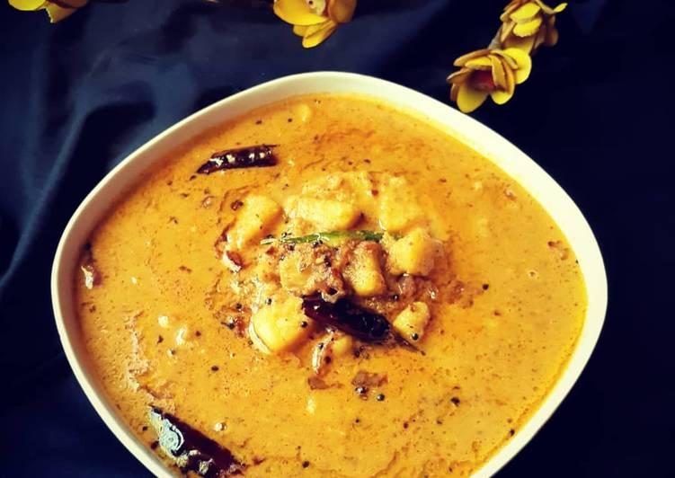 Recipe: Appetizing Bread fruit masala curry kada chakka masala curry