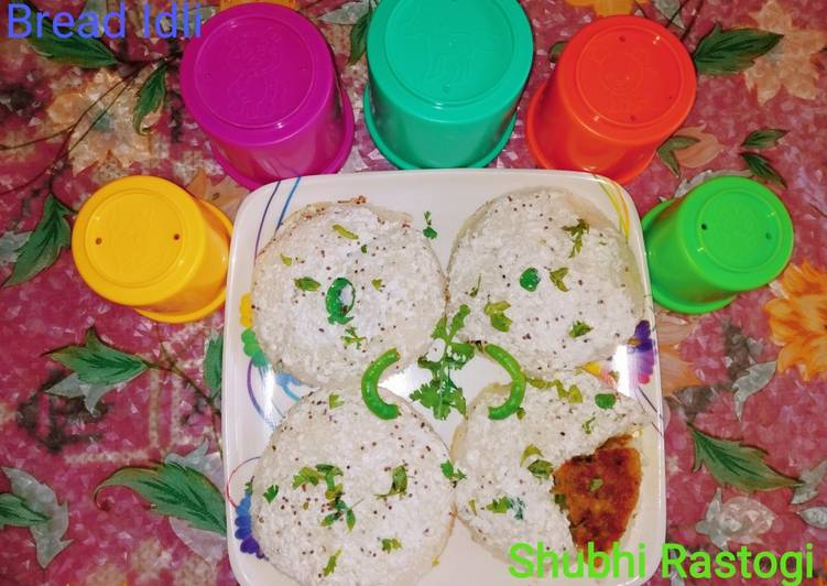 Bread Idli with yoghurt