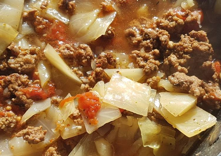 Recipe of Favorite Hamburger Cabbage Soup
