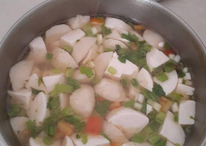 Sup tahu dan bakso ayam simpel