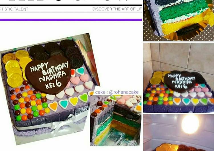 Decor Bas cake Brownies warna Mm Anna 🎂🍰🍡