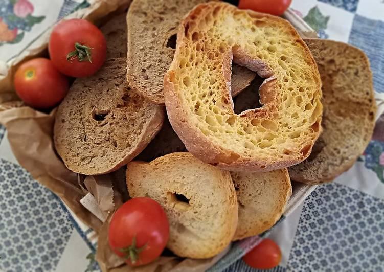 Ricetta Friselle pugliesi (ricetta base-rustiche integrali -ai cereali)