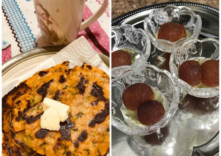 Makki ki roti with hot gulab jamun - Laurie G Edwards