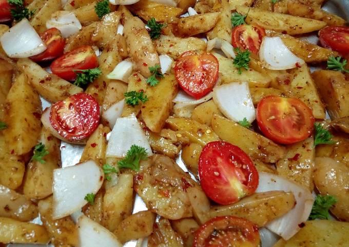 Oven roast Potatoes#festiveContest_Kisumu