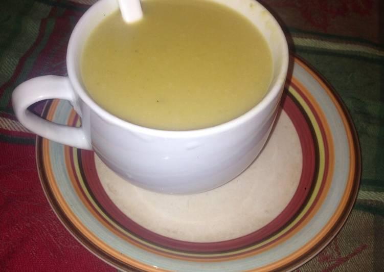 Pumpkin and sweet potatoes soup #4week challenge