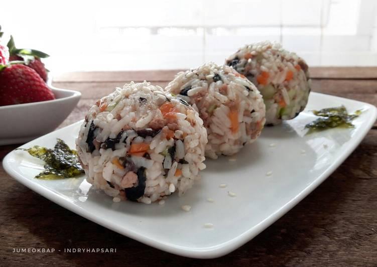 Jumeokbap (nasi kepal ala Korea) #maree