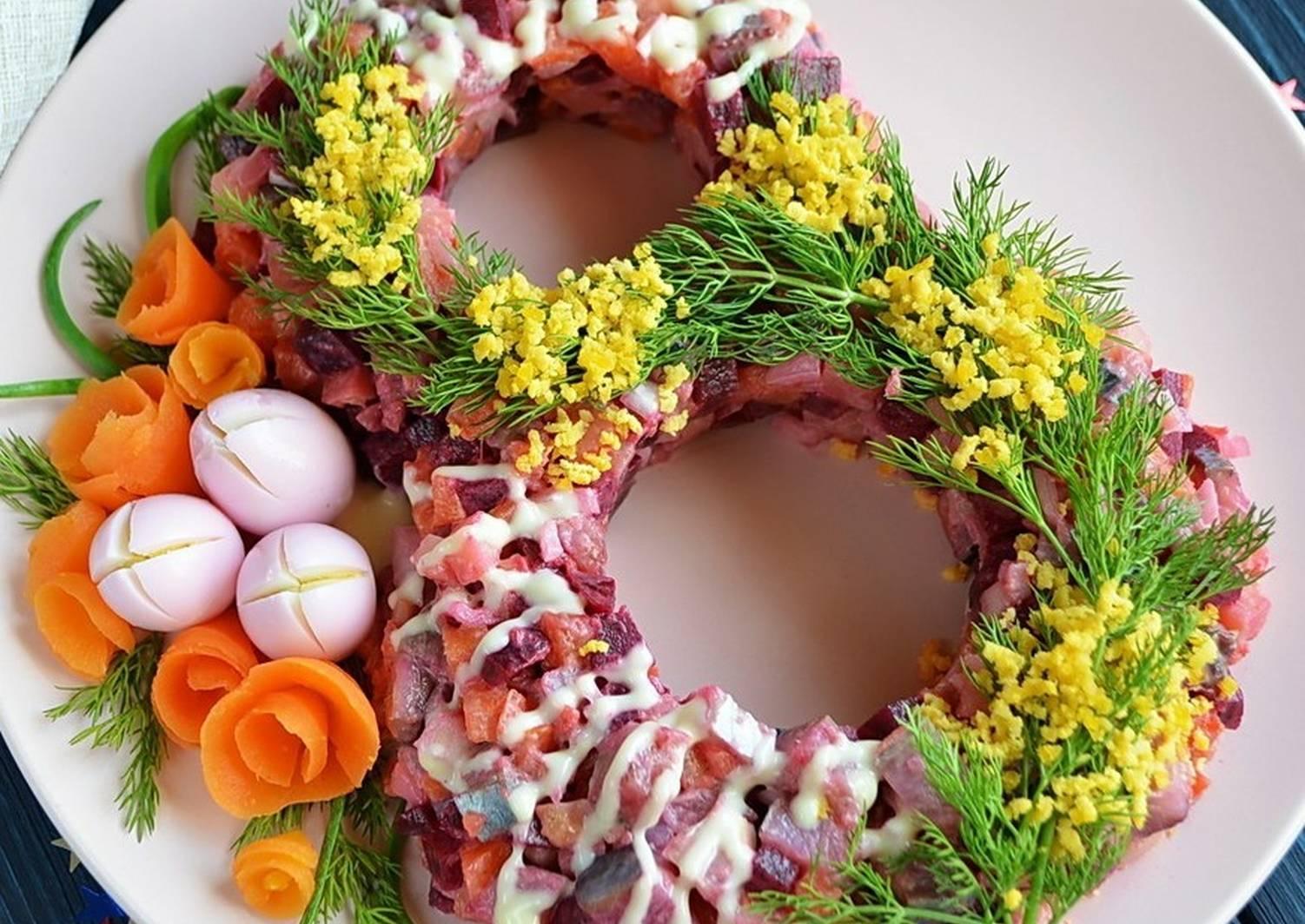позволит рецепты красиво украшенных салатов с фото вот
