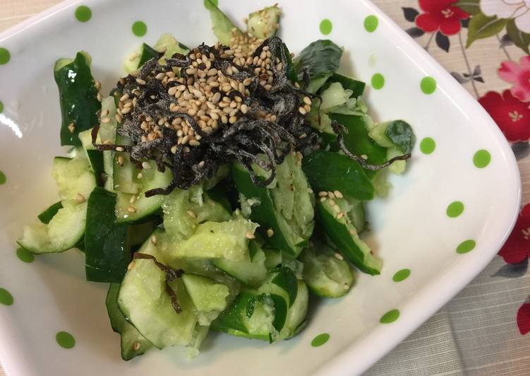 Step-by-Step Guide to Prepare Homemade Japanese Kombu and Cucumber