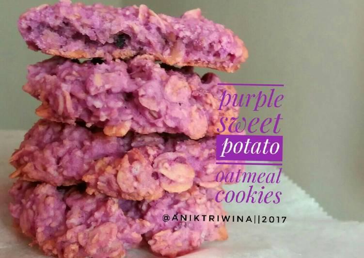 Purple Sweet Potato Oatmeal Cookies