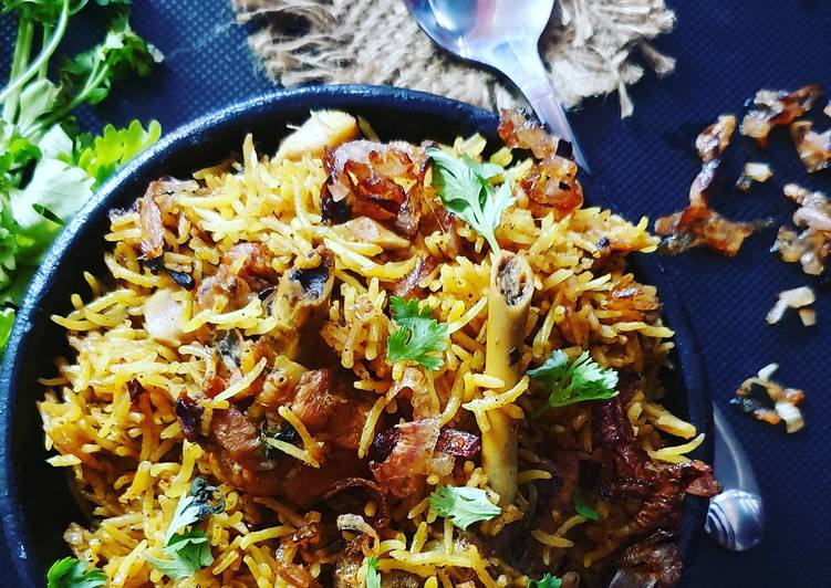 Top 100 Dinner Easy Speedy One pot Mutton briyani in pressure cooker