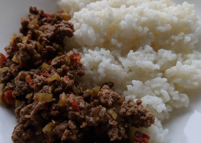 Minced Beef Soy sauce Donburi