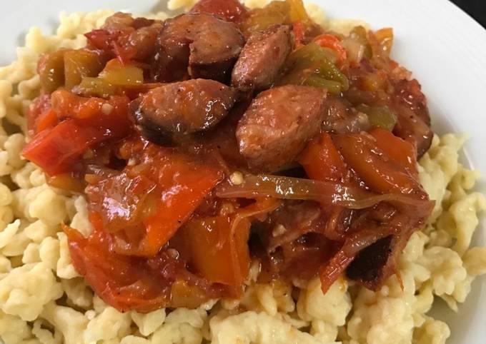 Hungarian Vegetable stew (Lecsó)