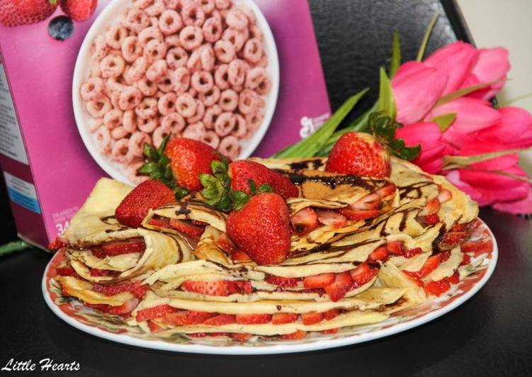 The Berry Princess' Strawberry Nutella Crepes
