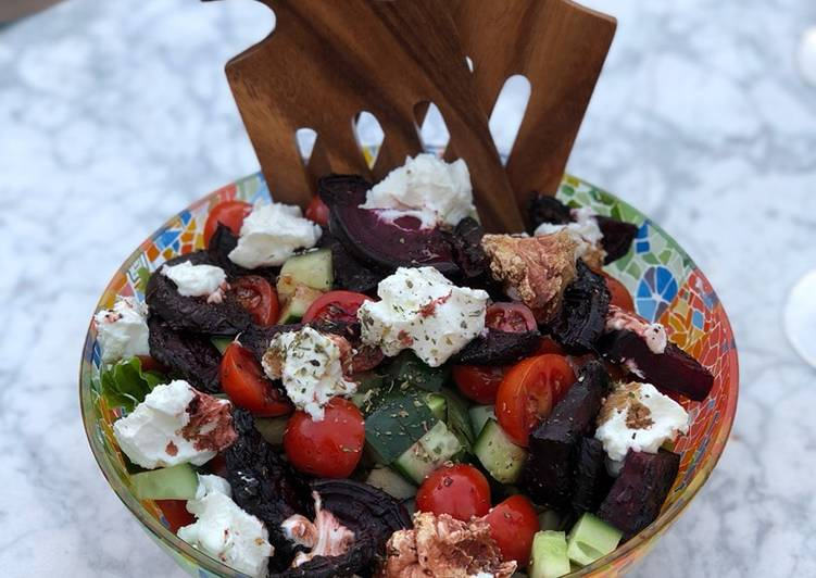 BBQ beetroot and goats cheese salad