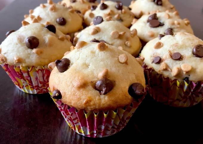 Muffin pisang chocolate chip (freezer friendly)
