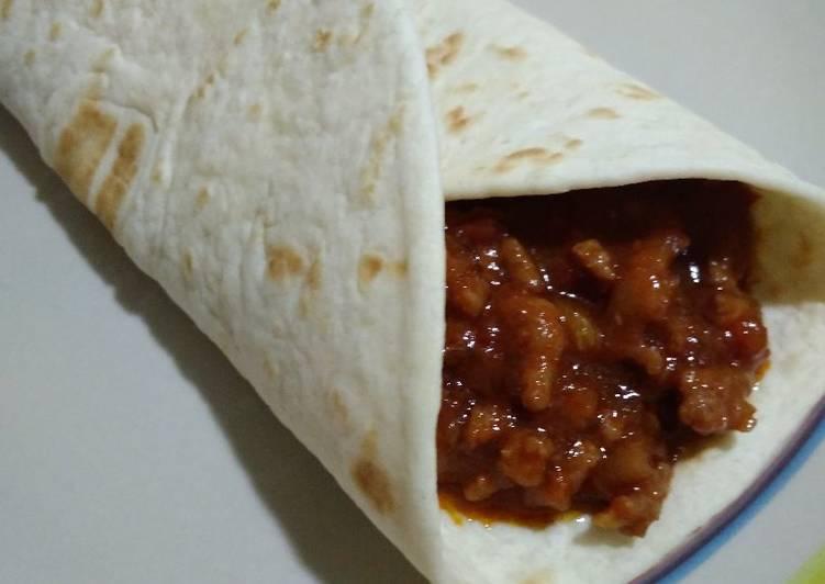 Recipe: Perfect Burritos barbacoa con thermomix