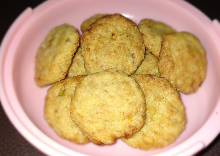 Banana Oat Cookies for baby