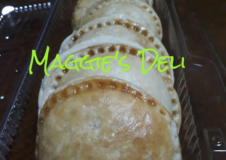 Empanadas de hojaldre rellenas de manzana verde