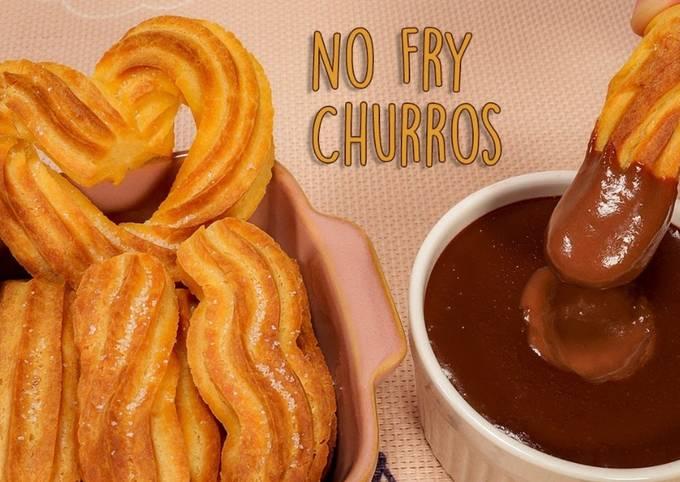 Churros & Hot Chocolate Recipe (No Fry)