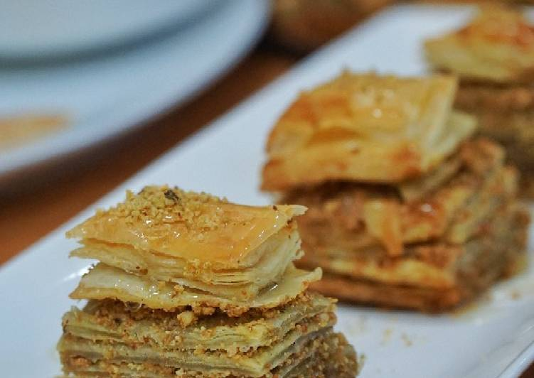 Living Greener for Greater Health By Dining Superfoods Baklava (using puff pastry)