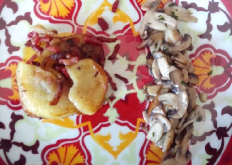 La Meilleur Recette De Pomme de terre,lardons,champignons # printemps