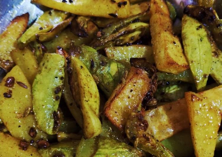 Pointgurd fry (bhujiya parwal)
