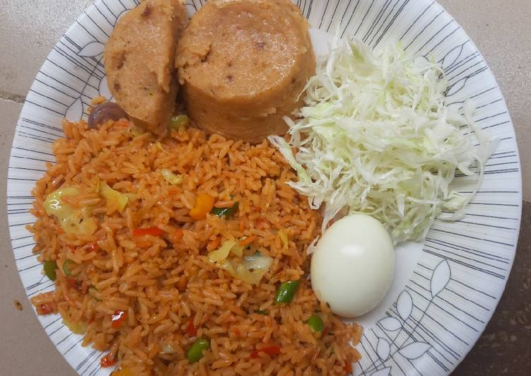 Best Comfort Dinner Easy Love Fried rice with moimoi