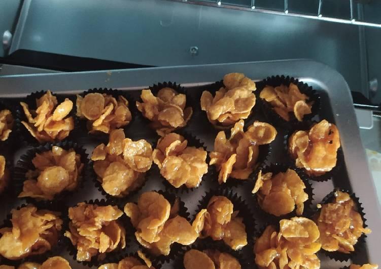 Resepi:  Cornflake madu bujang  Termudah
