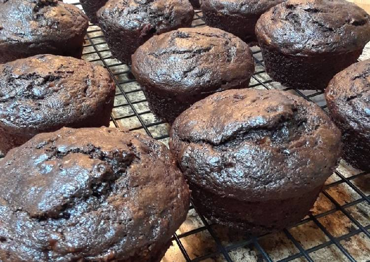 Double Chocolate Banana Muffins (or Bread)