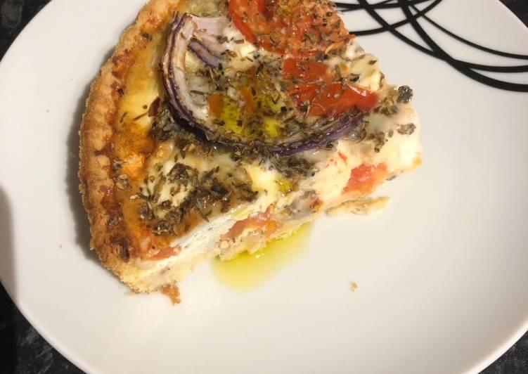 'Greek salad' quiche