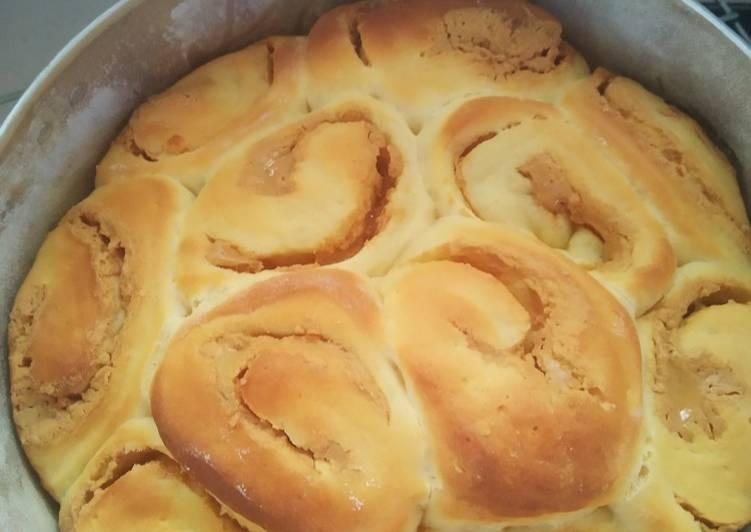 Roti gulung selai kacang
