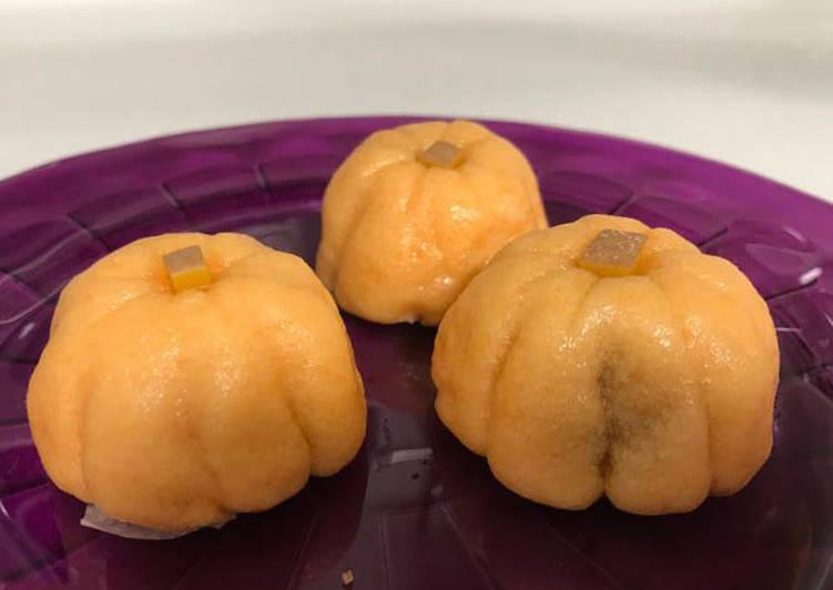 Les Meilleures Recettes de La Citrouille d' Halloween- Jouyo Manjyu (Wagashi)