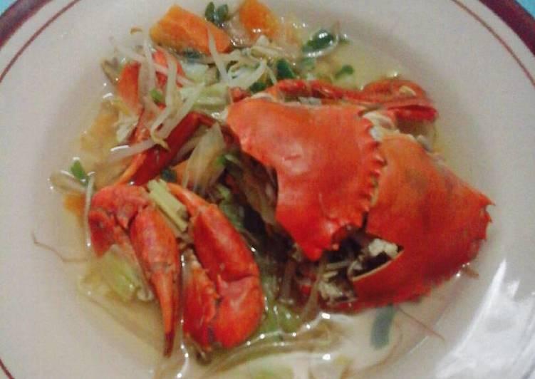 Sup Kepiting Sayur