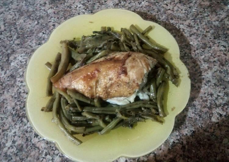 Haricot au poulet