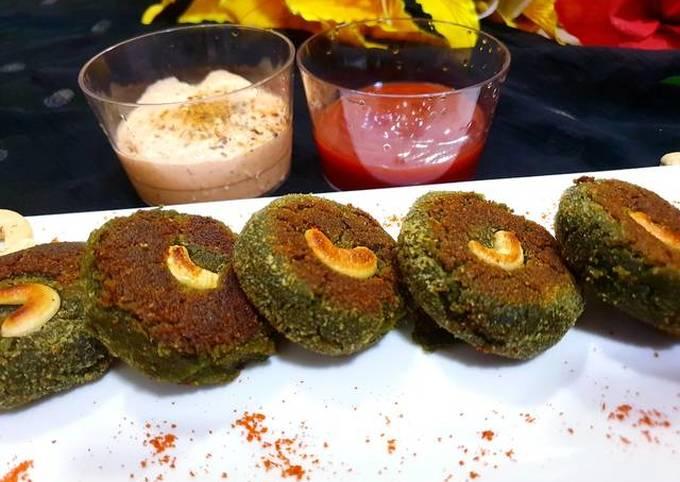 Healthy spinach chana kabab