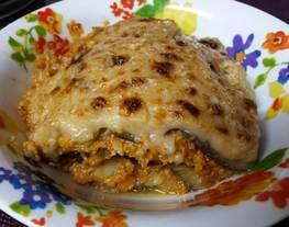 Moussaka con patata y soja texturizada (en MCC o en thermomix)