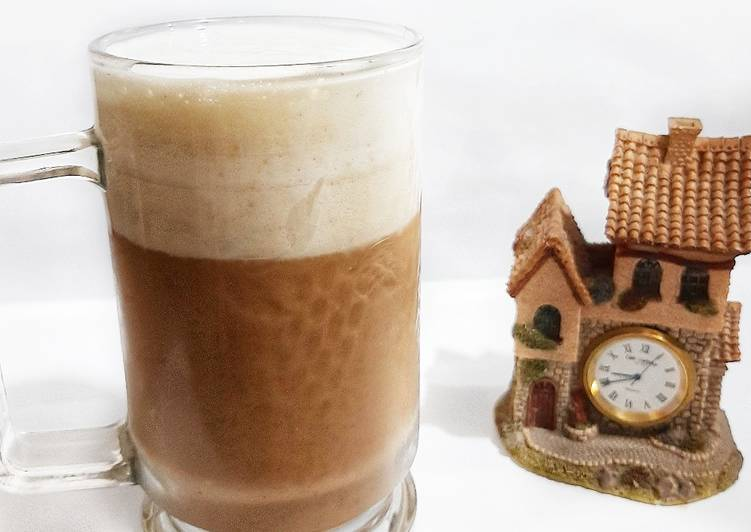 Coffee Milk with Cheese Foam