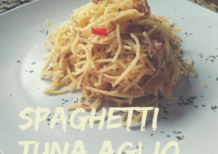 Spaghetti tuna aglio olio
