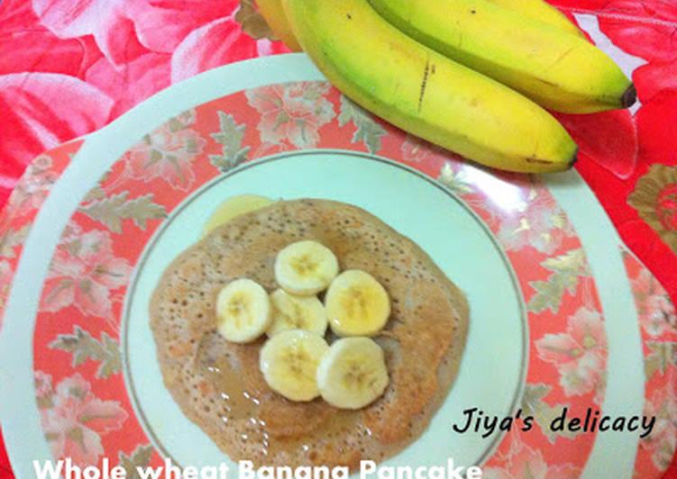 Whole-wheat banana pancake