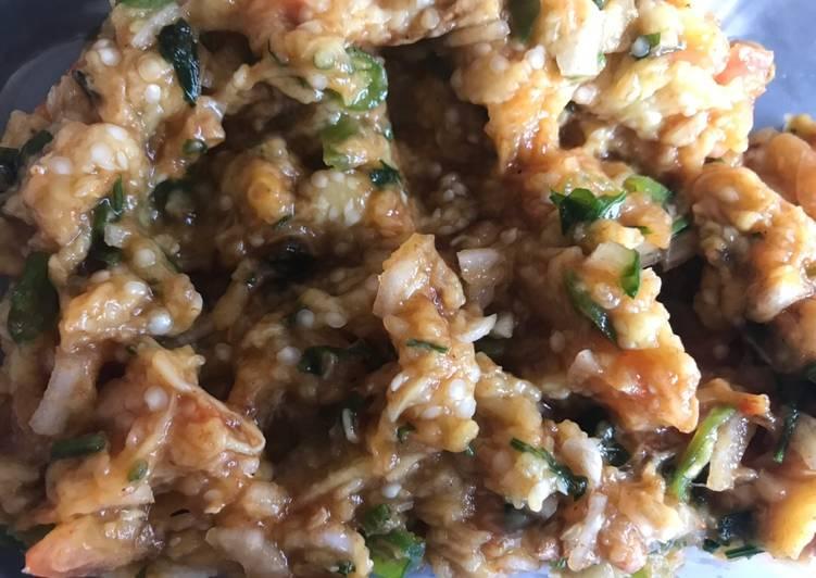 Recipe of Any-night-of-the-week Baingan ka bharta (brinjal eggplant) also called