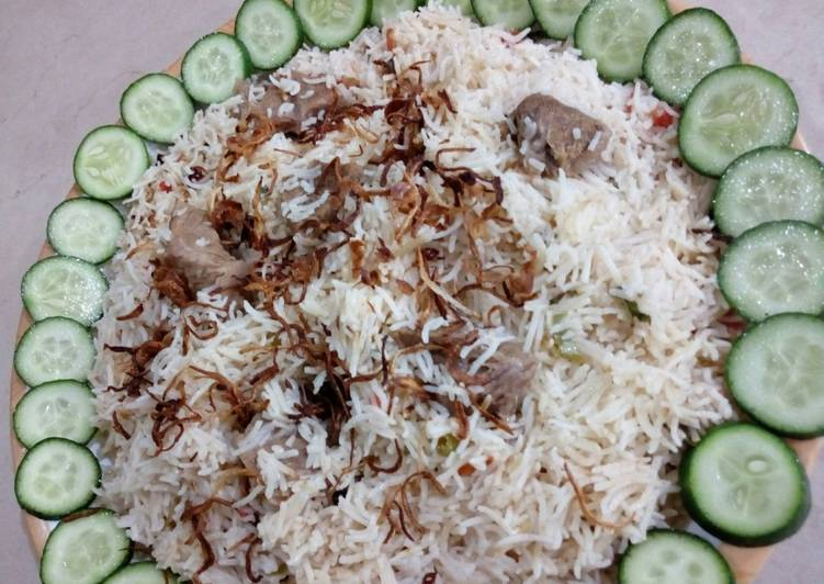 Recipe of Any-night-of-the-week Beef yakhni pulao