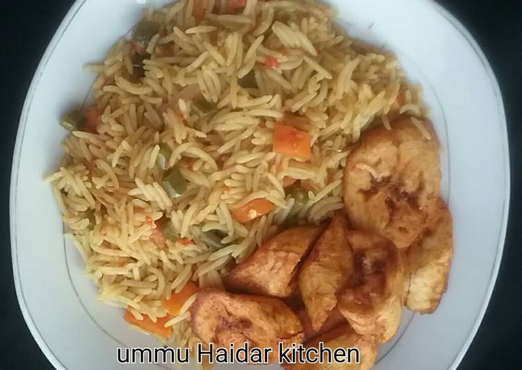 Basmati rice with plantain