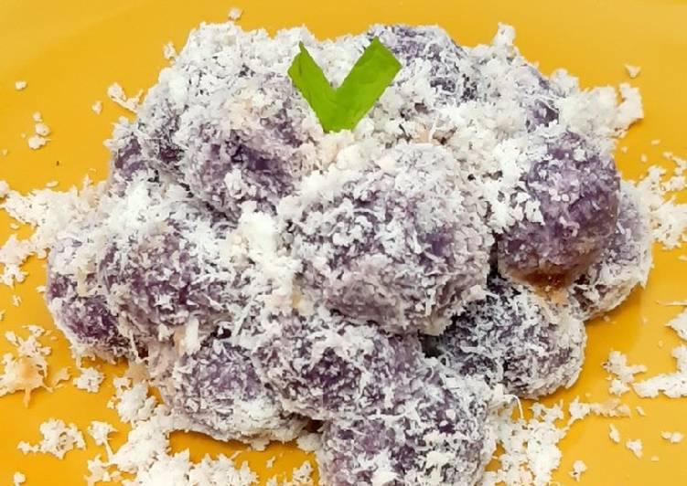 Resep Kelepon ubi ungu