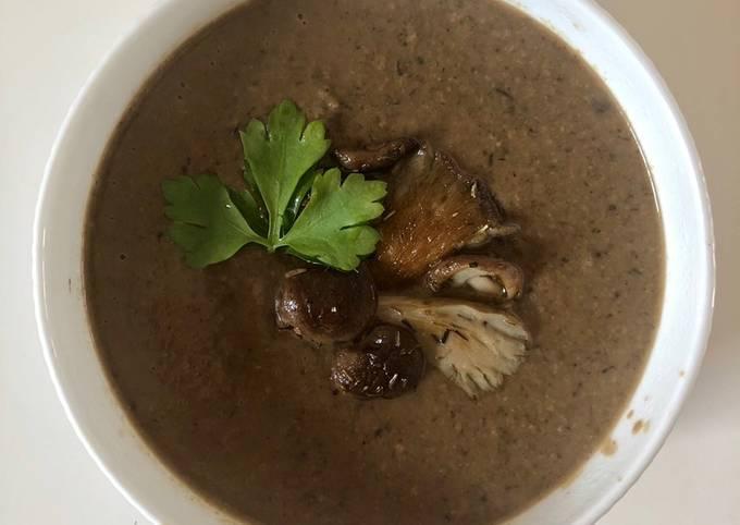 4-Mushroom soup #vegan #vegetarian #paleo #soupcontest