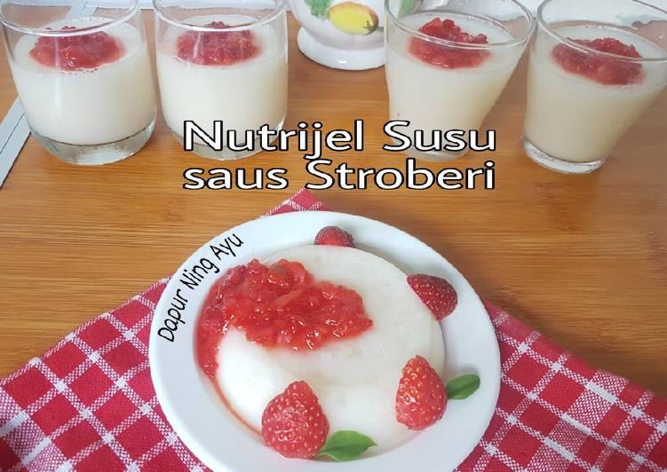 131. Nutrijel Susu saus Stroberi