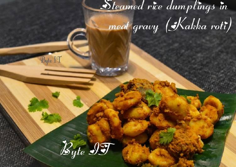 Recipe of Ultimate Steamed rice dumplings in meat gravy