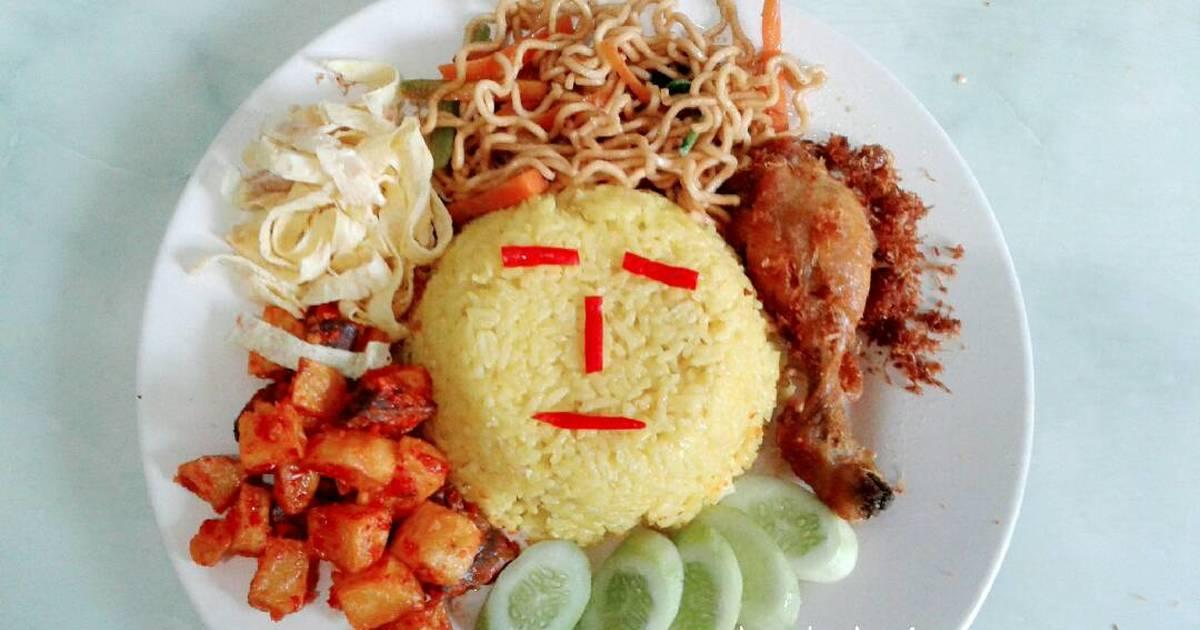 resep nasi kuning  pelengkapnya enak  sederhana ala rumahan cookpad Resepi Kentang Goreng Kunyit Enak dan Mudah