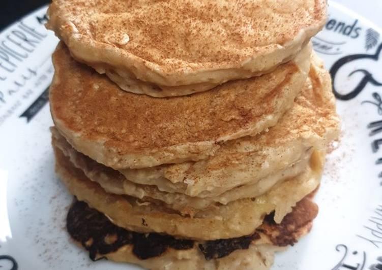 Recette Des Pancakes banane-flocons d'avoine