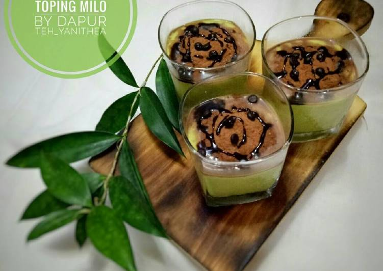 Avocado Juice Toping Milo