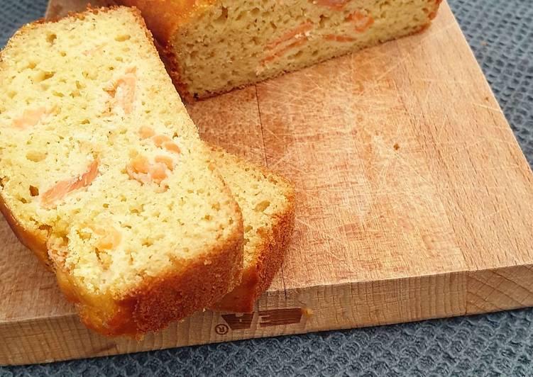 Recette Délicieuse Cake ss gluten au saumon /emmental